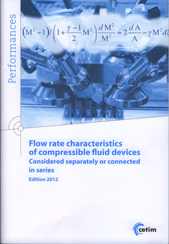 Couverture de l'ouvrage Flow rate characteristics of compressible fluid devices (Edition 2012)