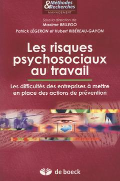 Couverture de l'ouvrage Les risques psychosociaux au travail