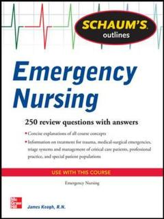 Couverture de l'ouvrage Schaum's Outline of Emergency Nursing (Schaum's Outline Series)
