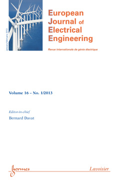 Couverture de l'ouvrage European Journal of Electrical Engineering Volume 16 N° 1/January-February 2013