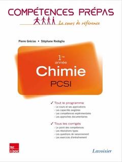 Couverture de l'ouvrage Chimie 1re année PCSI