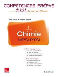 Couverture de l'ouvrage Chimie 1re année MPSI-PTSI