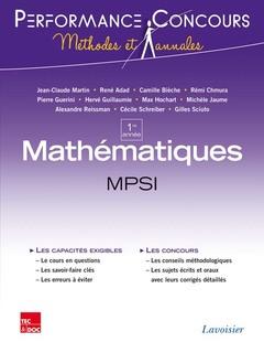 Couverture de l'ouvrage Mathématiques MPSI 1re année