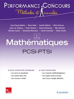 Couverture de l'ouvrage Mathématiques 1re année PCSI-PTSI