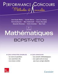 Couverture de l'ouvrage Mathématiques 1re année BCPST VÉTO