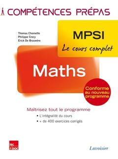Couverture de l'ouvrage Maths 1re année MPSI