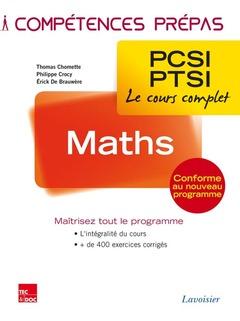 Couverture de l'ouvrage Maths 1re année PCSI-PTSI