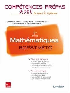 Couverture de l'ouvrage Mathématiques 1re année BCPST-VÉTO