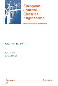Couverture de l'ouvrage European Journal of Electrical Engineering (Volume 16 N° 2/March-April 2013)