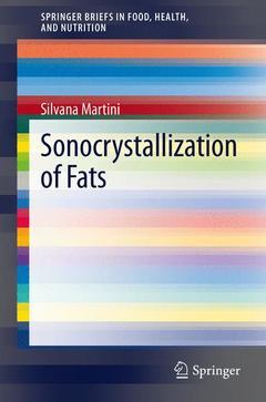 Couverture de l'ouvrage Sonocrystallization of Fats