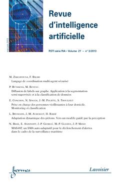 Couverture de l'ouvrage Revue d'intelligence artificielle RSTI série RIA Volume 27 N° 3/Mai-Juin 2013