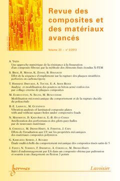 Couverture de l'ouvrage Revue des composites et des matériaux avancés Volume 23 N° 2/mai-août 2013