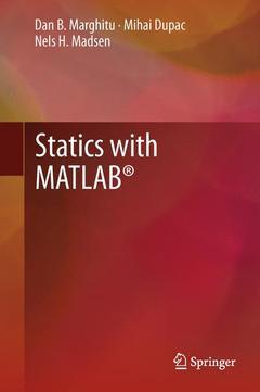 Couverture de l'ouvrage Statics with MATLAB®