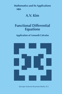 Cover of the book Functional Differential Equations