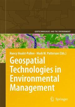 Couverture de l'ouvrage Geospatial Technologies in Environmental Management