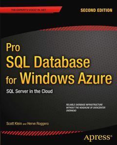 Couverture de l'ouvrage Pro SQL Database for Windows Azure
