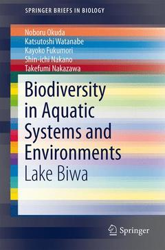 Couverture de l'ouvrage Biodiversity in Aquatic Systems and Environments