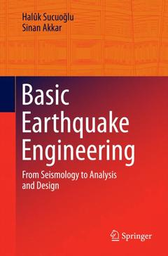 Couverture de l'ouvrage Earthquake Engineering