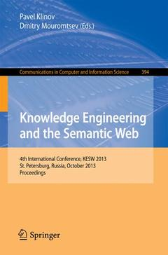 Couverture de l'ouvrage Knowledge Engineering and the Semantic Web