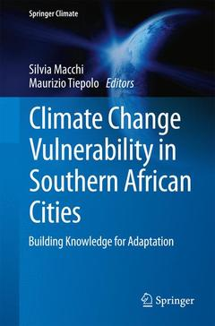 Couverture de l'ouvrage Climate Change Vulnerability in Southern African Cities