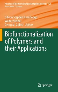 Cover of the book Biofunctionalization of Polymers and their Applications