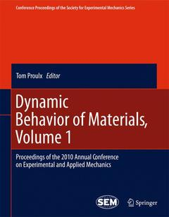 Cover of the book Dynamic Behavior of Materials, Volume 1