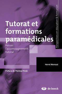 Couverture de l'ouvrage Tutorat et formations paramédicales
