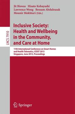 Couverture de l'ouvrage Inclusive Society: Health and Wellbeing in the Community, and Care at Home