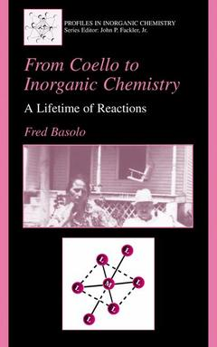 Couverture de l'ouvrage From coello to inorganic chemistry