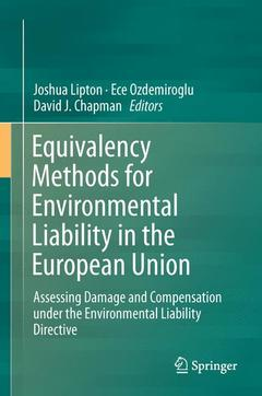 Cover of the book Equivalency Methods for Environmental Liability in the European Union