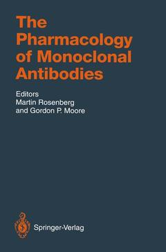 Couverture de l'ouvrage The pharmacology of monoclonal antibodies (handbook of experimental pharmacology)
