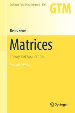 Couverture de l'ouvrage Matrices