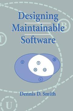Couverture de l'ouvrage Designing maintainable software