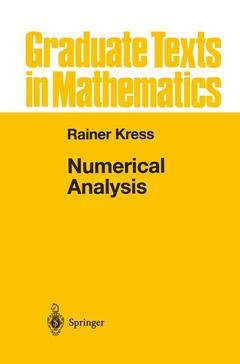 Couverture de l'ouvrage Numerical Analysis