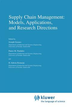 Couverture de l'ouvrage Supply chain management: models, applications, and research directions