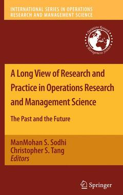 Cover of the book A Long View of Research and Practice in Operations Research and Management Science
