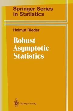 Couverture de l'ouvrage Robust asymptotic statistics: volume i