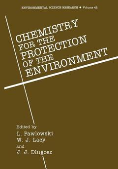 Cover of the book Chemistry for the protection of the environment vol 1