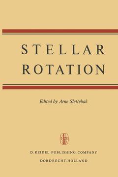Couverture de l'ouvrage Stellar rotation
