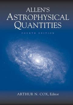 Cover of the book Allen's Astrophysical Quantities