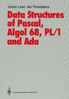 Couverture de l'ouvrage Data Structures of Pascal, Algol 68, PL/1 and Ada