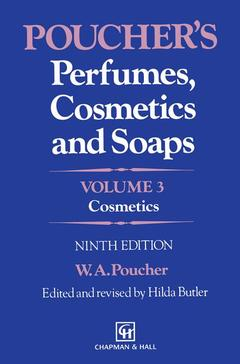 Couverture de l'ouvrage Poucher's perfumes, cosmetics and soaps Volume 3 : cosmetics (9th edition bound)