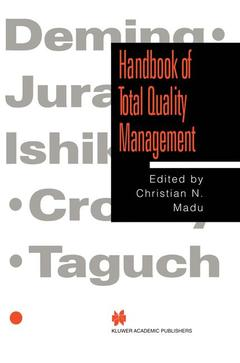 Couverture de l'ouvrage Handbook of total quality management