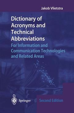Cover of the book Dictionary of Acronyms and Technical Abbreviations
