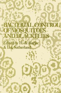 Couverture de l'ouvrage Bacterial control of mosquitoes and blackflies