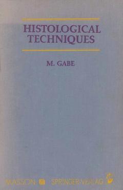 Couverture de l'ouvrage Histological Techniques