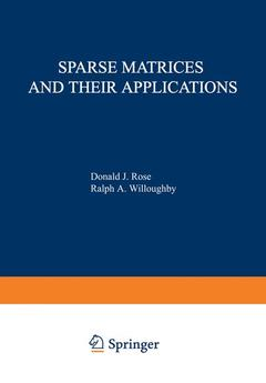 Couverture de l'ouvrage Sparse matrices and their applications