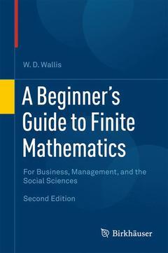 Couverture de l'ouvrage A Beginner's Guide to Finite Mathematics