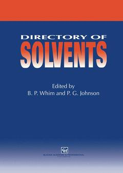 Cover of the book Directory of solvents