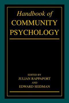 Couverture de l'ouvrage Handbook of community psychology